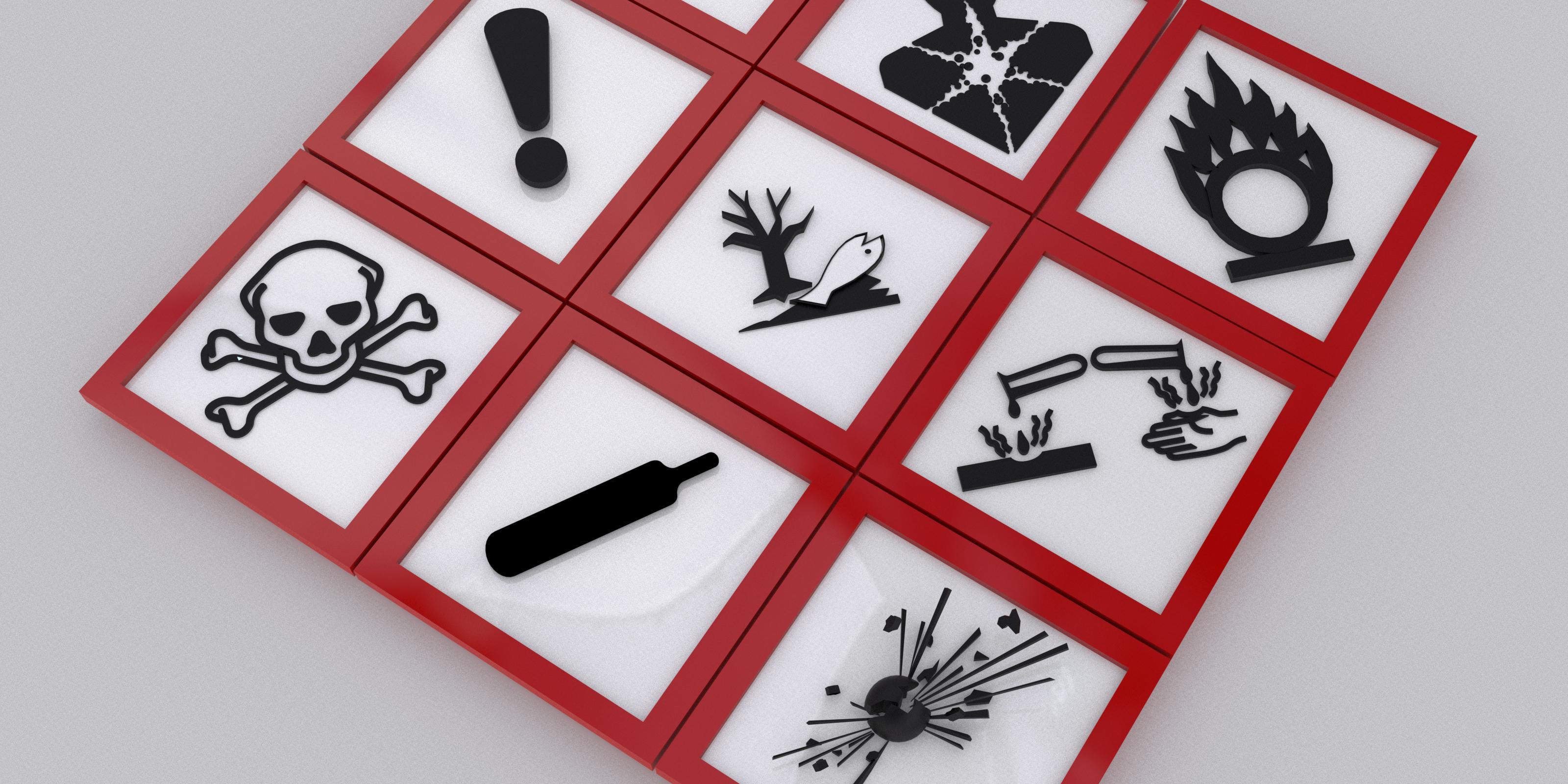 Savoir déchiffrer les pictogrammes de dangers sur les produits chimiques !