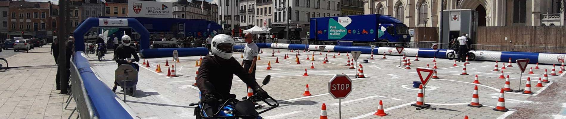 Les jeunes en piste pour la sécurité à Roubaix (59), du 10 au 13 juin