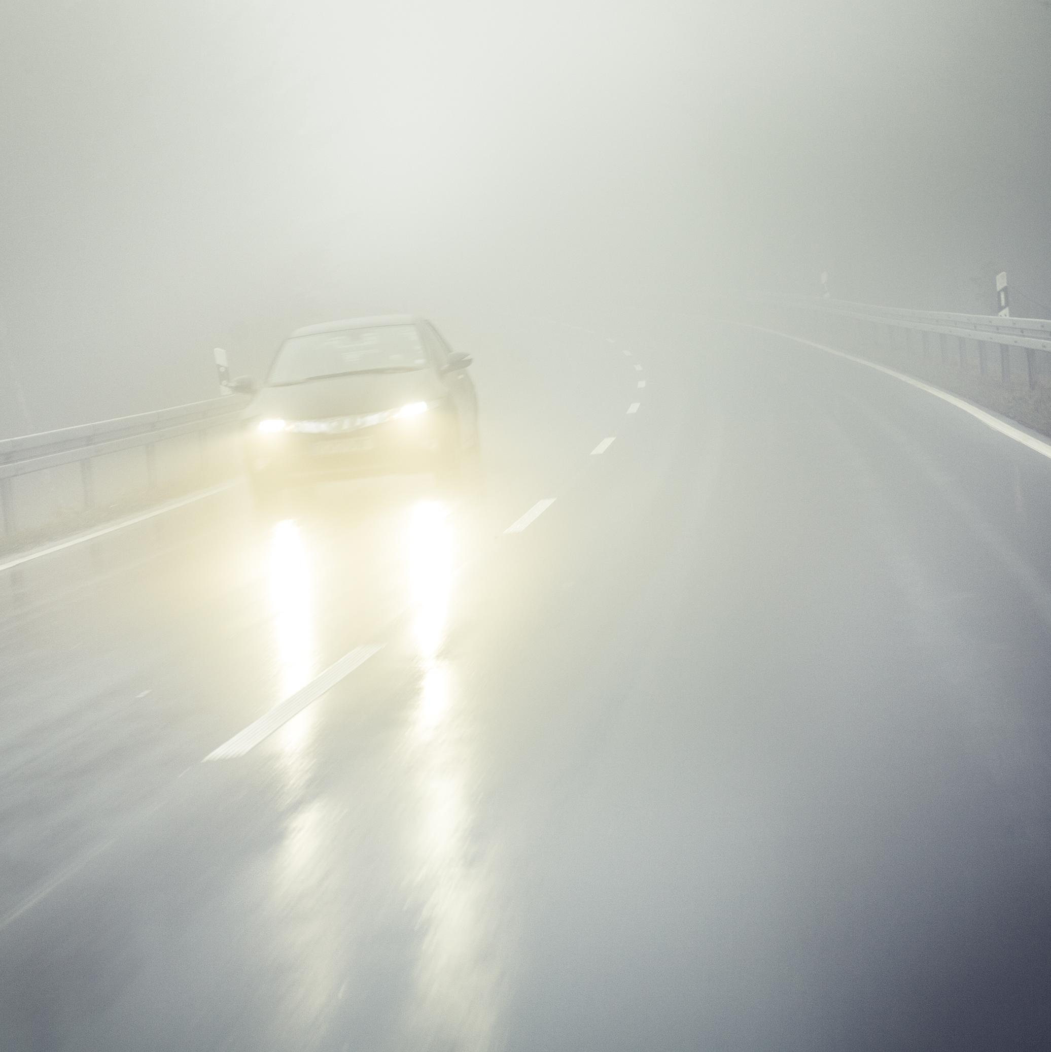 conduire avec du brouillard
