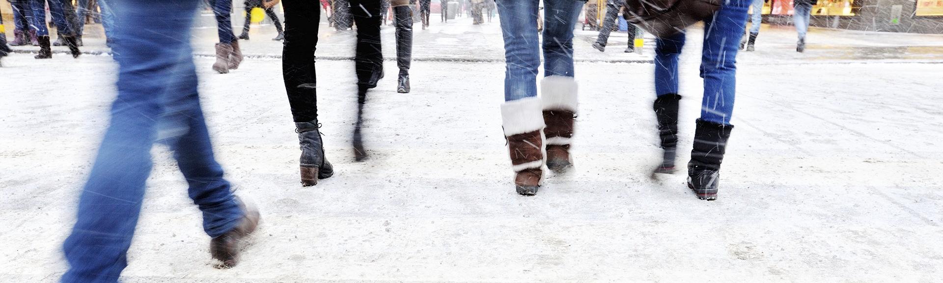Marche sur la neige