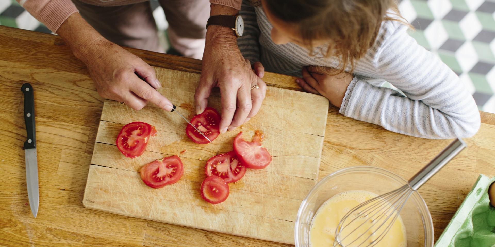 Coupures dans la cuisine