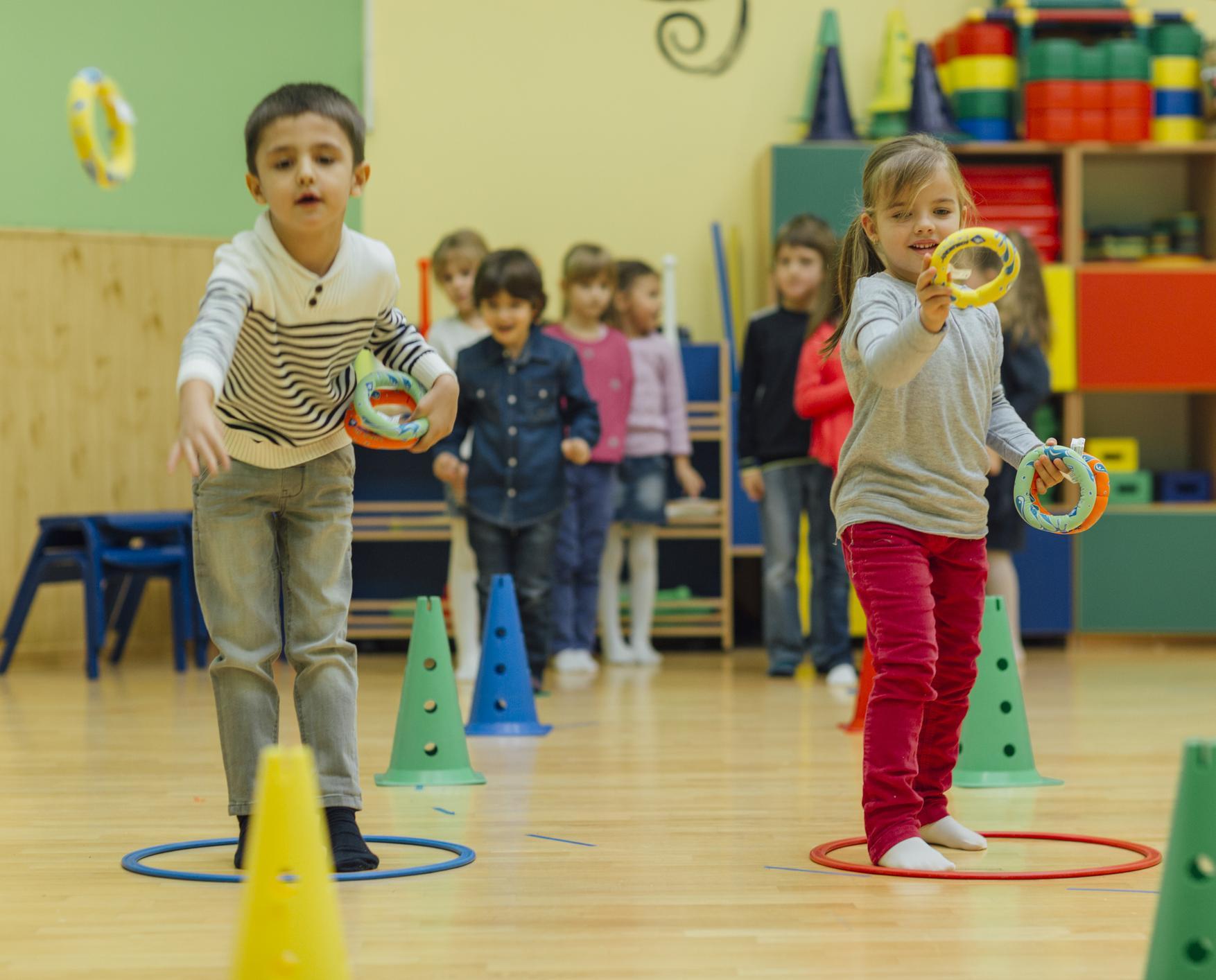 La salle de jeux : les ateliers sportifs