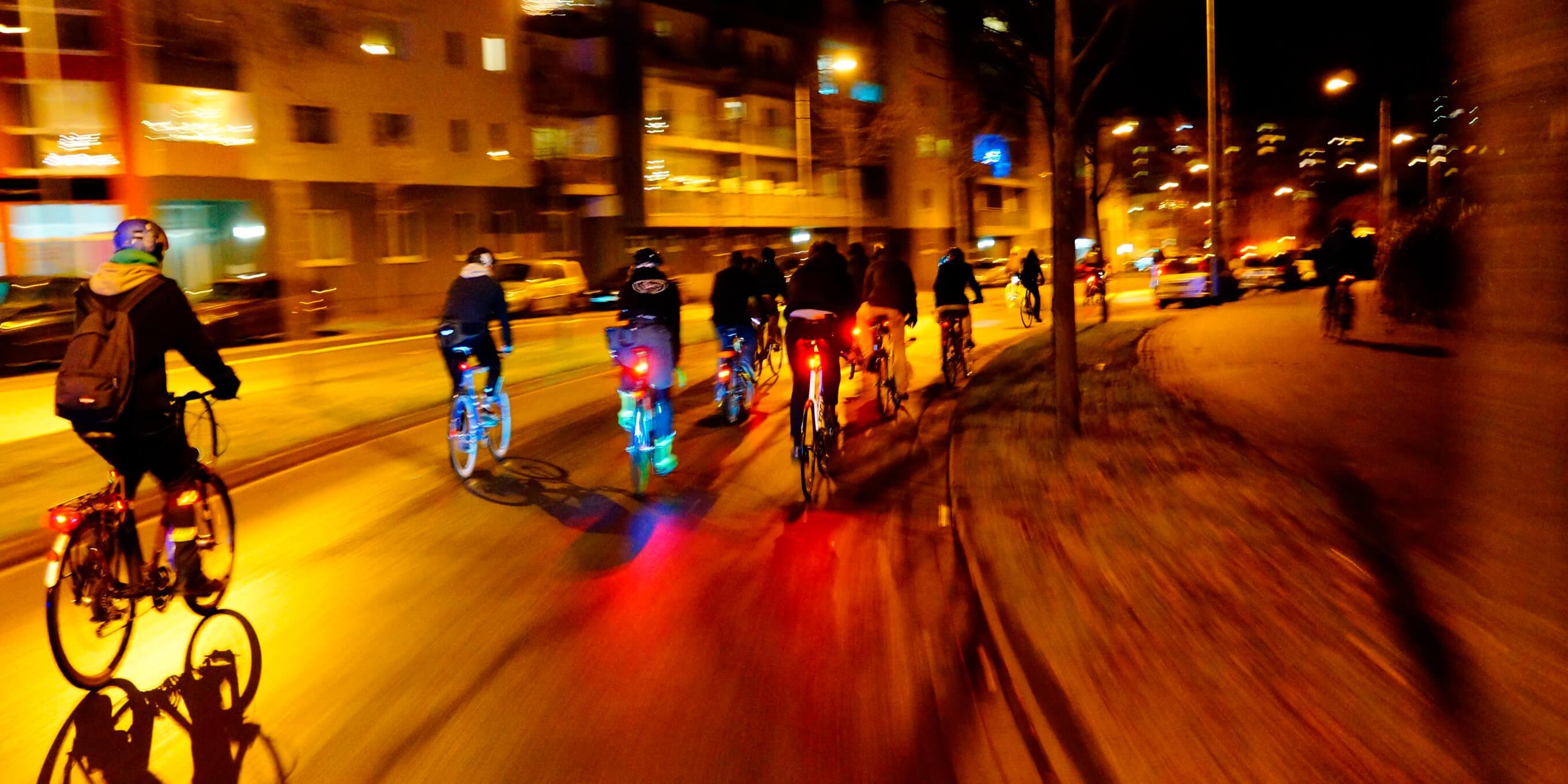 Danger pour les cyclistes la nuit