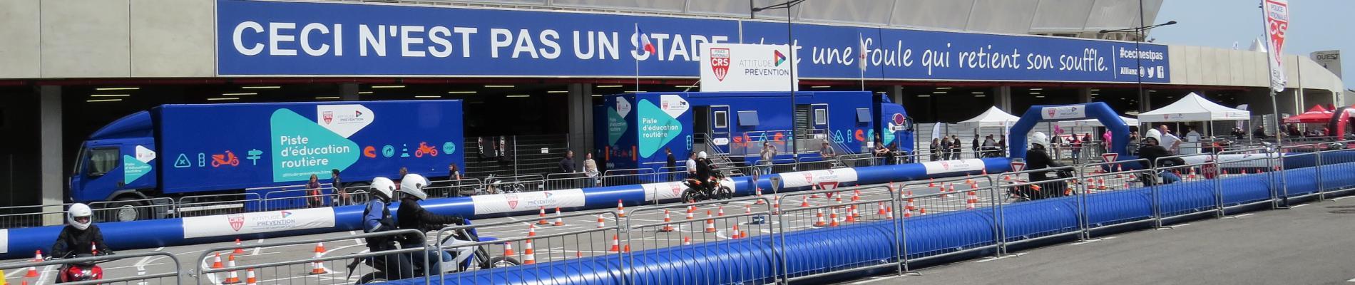 La piste d'éducation routière CRS/Attitude Prévention sera au Salon Moto Expo de Nice (06), les 30 et 31 mars