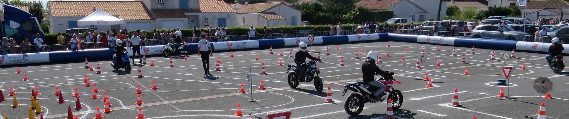 Les jeunes en piste pour la sécurité à La Tranche-sur-Mer (85), du 16 au 18 juillet